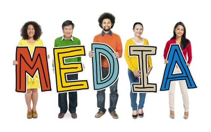 Multiethnic Group of People Holding Letter Media
