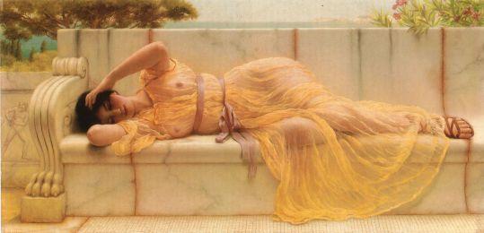 Godward Girl In Yellow Drapery